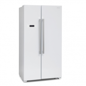 MONTPELLIER M530PDIX American Style Side by Side Fridge Freezer